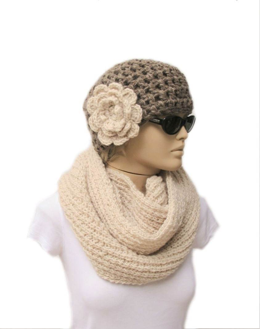 crochet hat scarf flickr photo