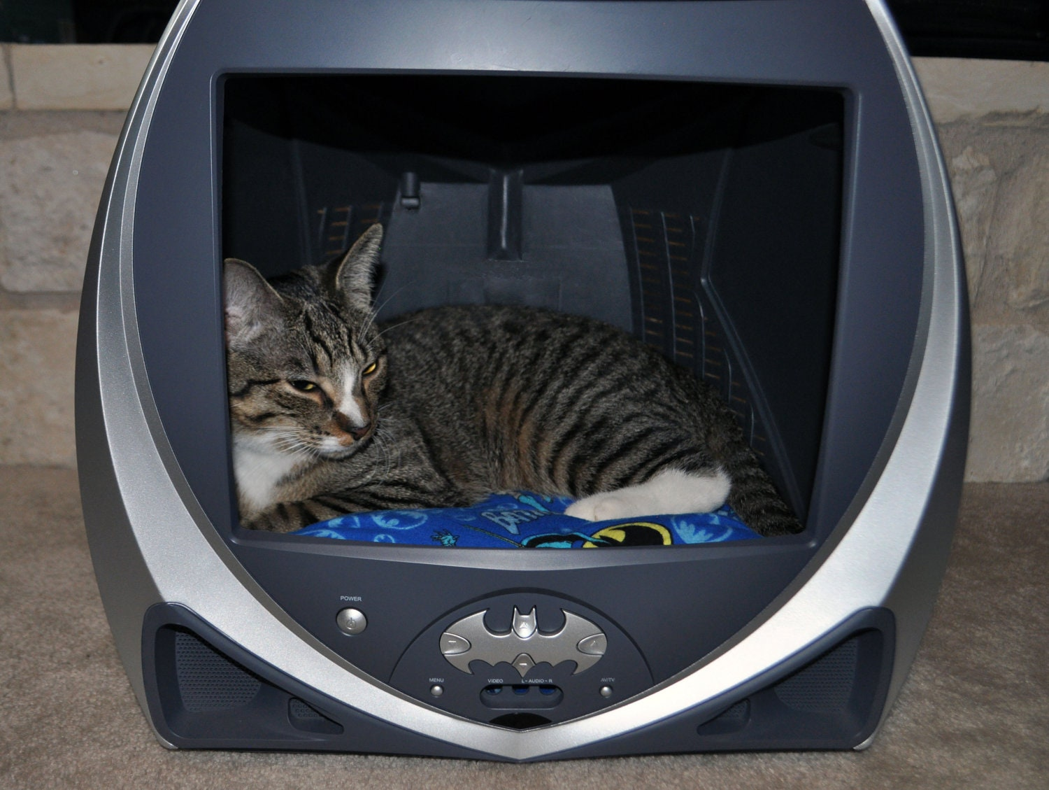batman tv pet bed reserved for kayla by groovypetbeds on etsy