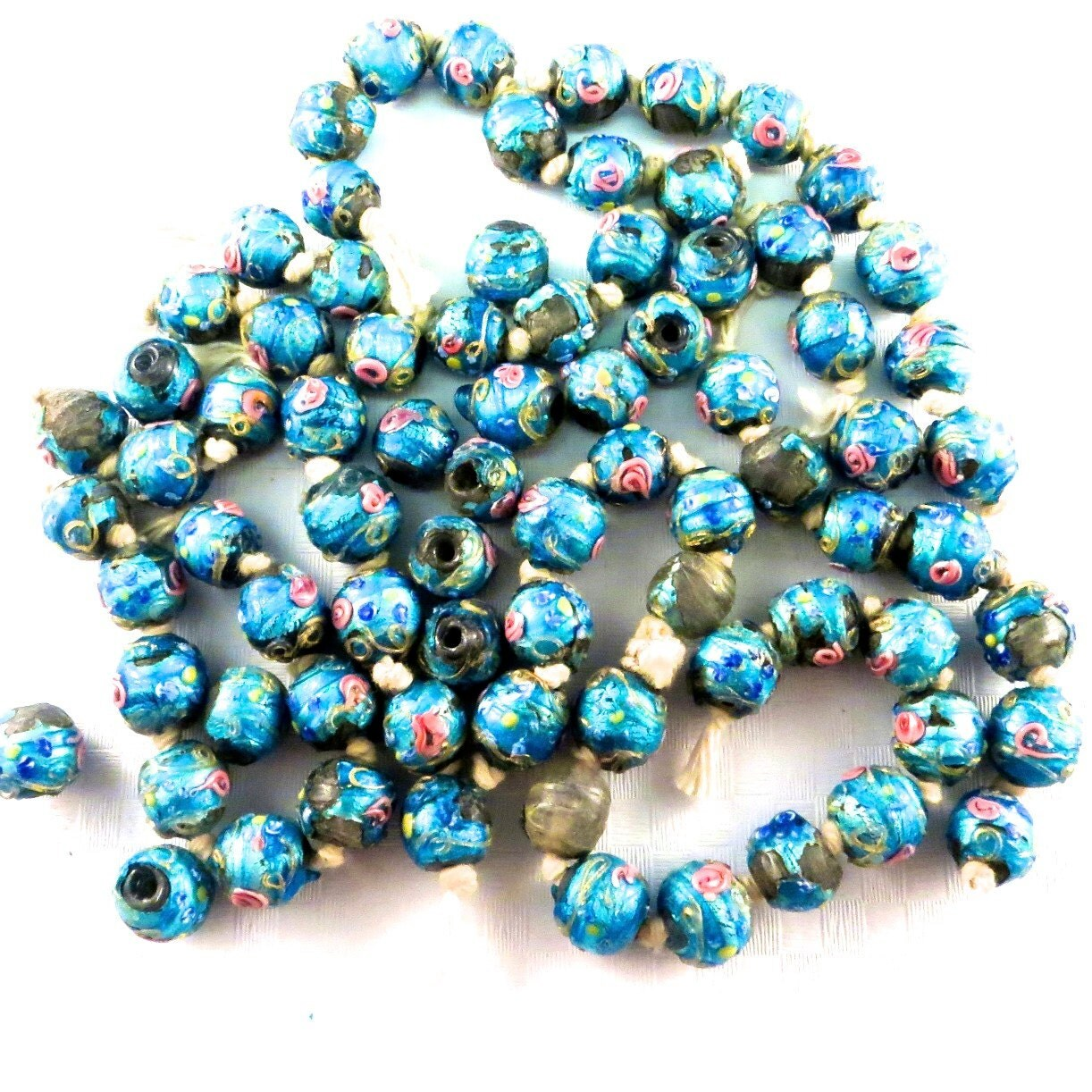 Items similar to antique venetian glass beads foil