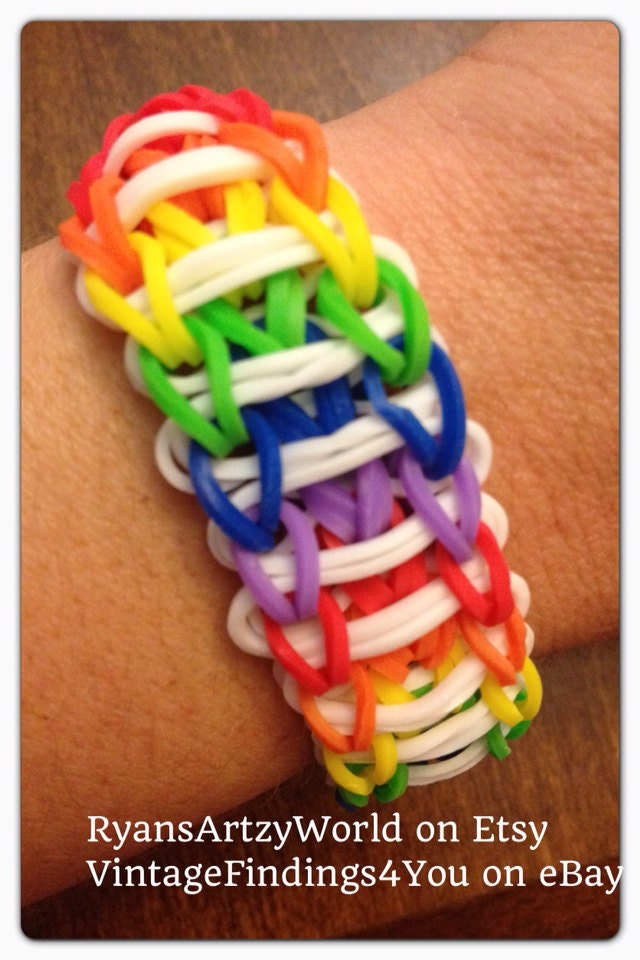 how to make a rainbow loom ladder bracelet by hand