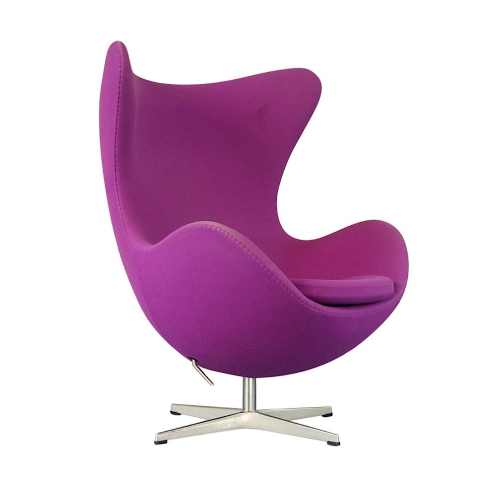 NOW SOLD  Danish Purple Wool Egg Chair by Arne Jacobsen for Fritz Hansen  SOLD