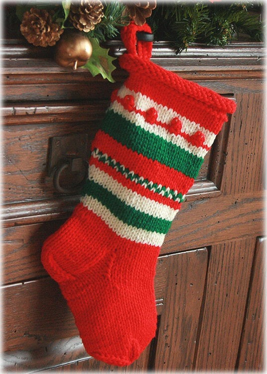 old fashioned christmas stocking by socksandmittens on etsy