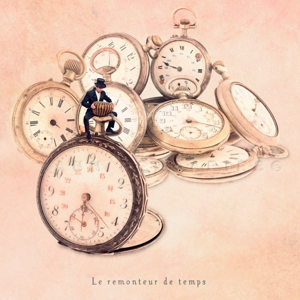 Small Trades self-portrait - The time rewinder - Signed Numbered Fine Art Photography Print 6x6 (15x15cm) - PhotographyDream