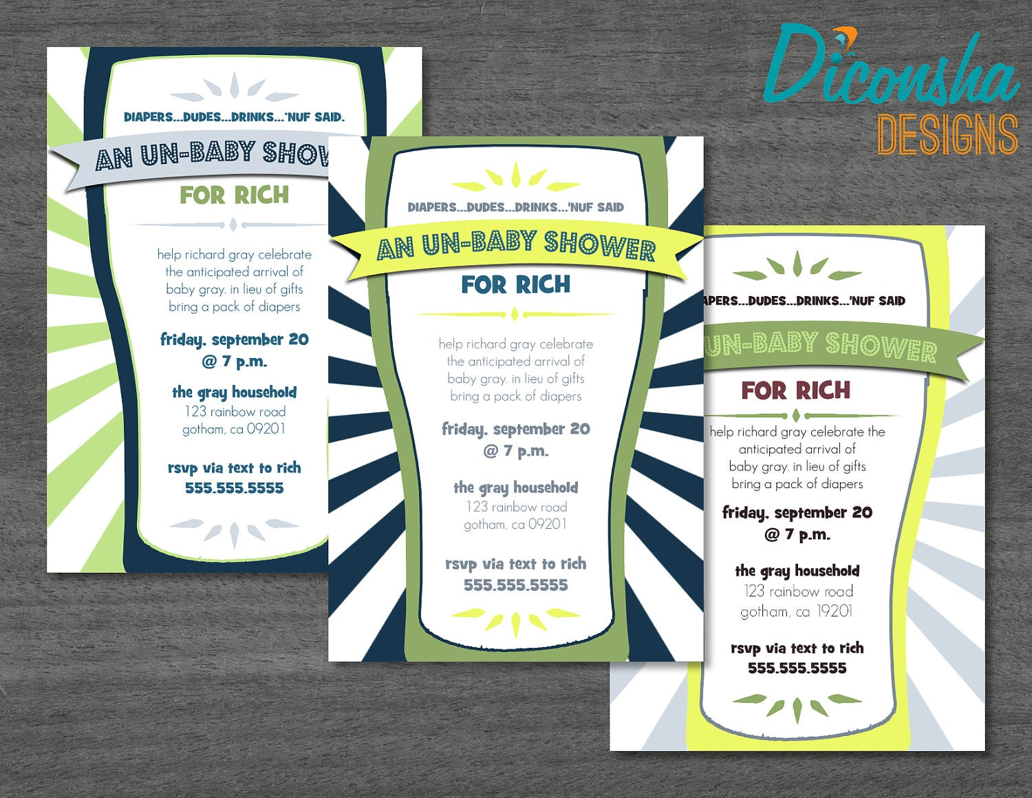 daddy diaper un baby shower dad shower by dieradesignstudio