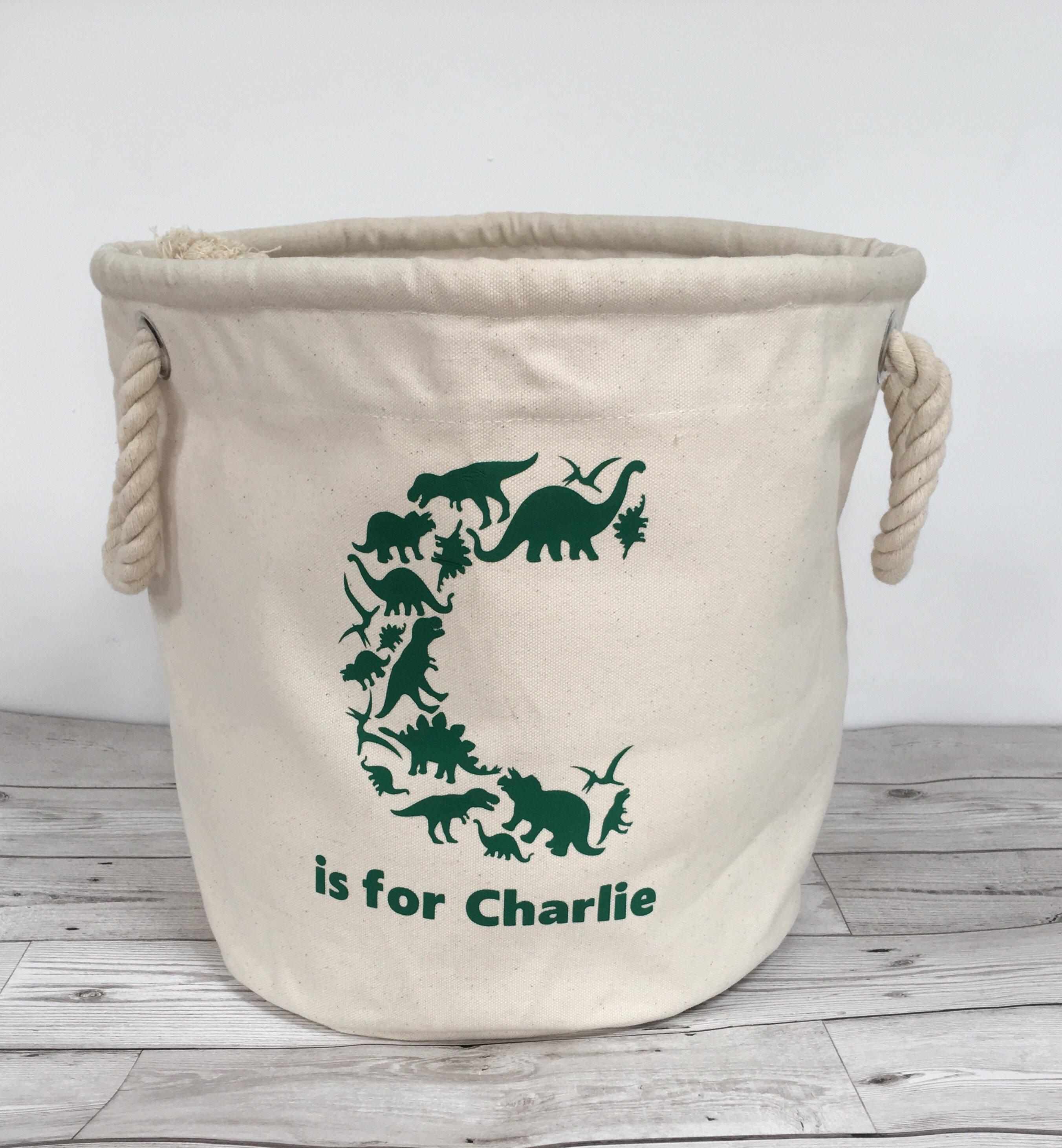 Personalised Letter Dinosaur storage bag toy storage laundry bag