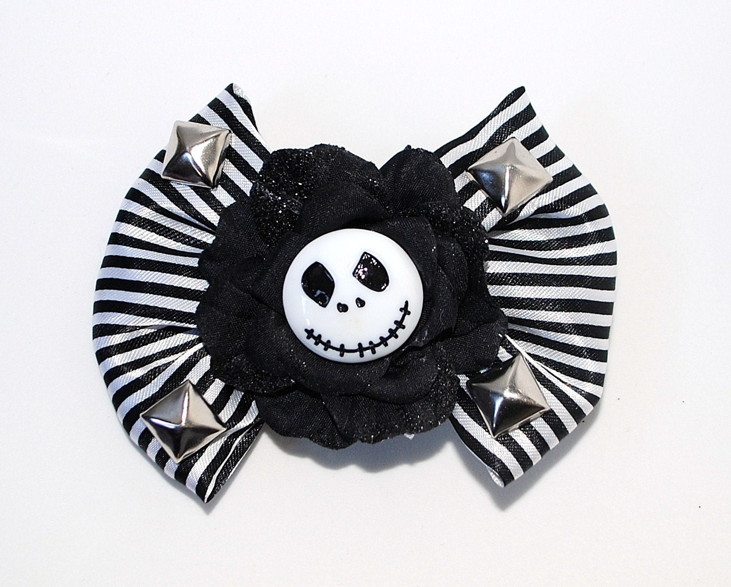Skeleton Jack Hair Bow/Clip