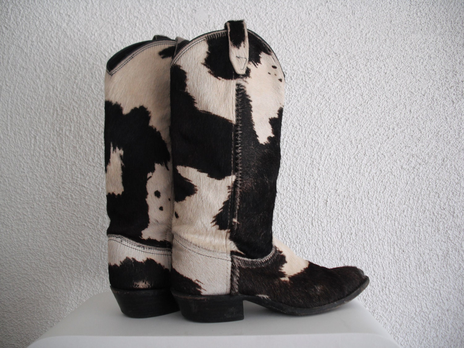 Vintage Pony Hair Cowboy Boots Size 8 8 5 By