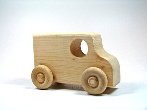 Children's Wooden Toy Car by littlewoodenwonders on Etsy