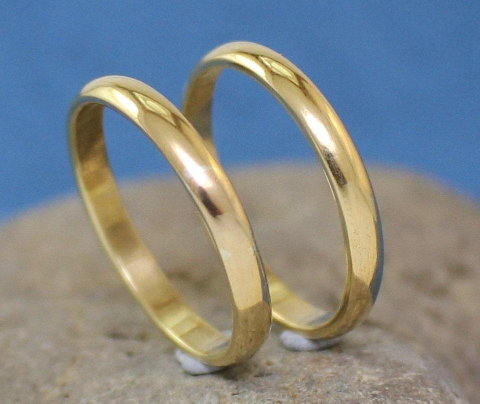 Handmade Brass Rings Wedding Bands Mens Womens By Arketipo