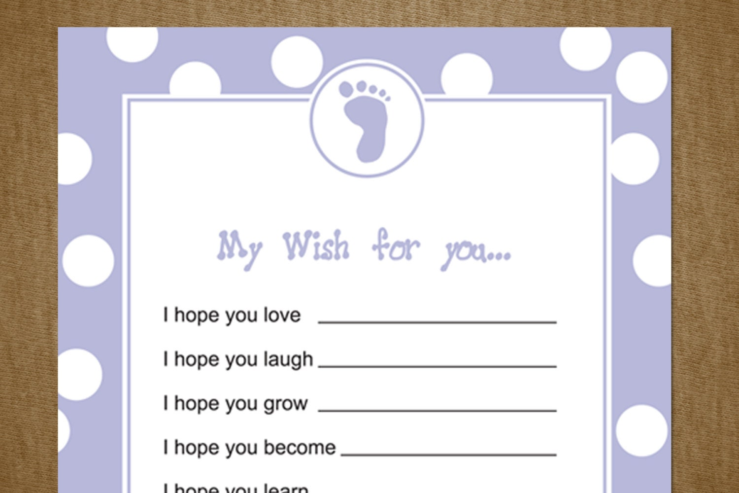 baby shower wishes diy printable cards for by jackaroodesigningco
