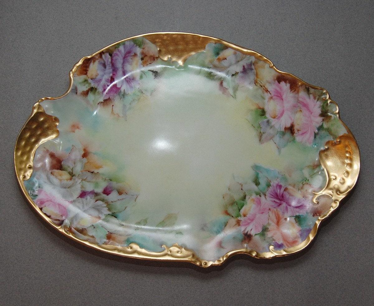Antique TK Austria Porcelain Tray by Abundancy on Etsy