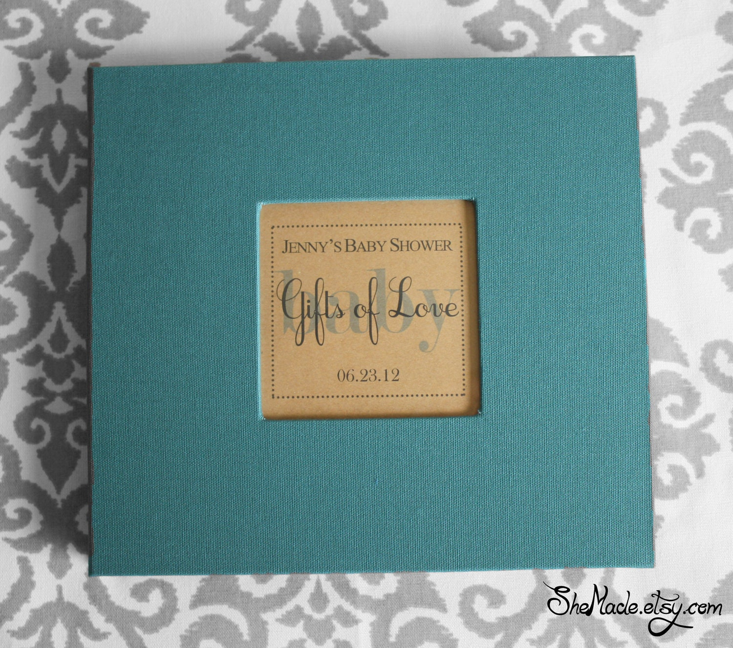similar to Custom Gift Log book, perfect for bridal showers, weddings ...