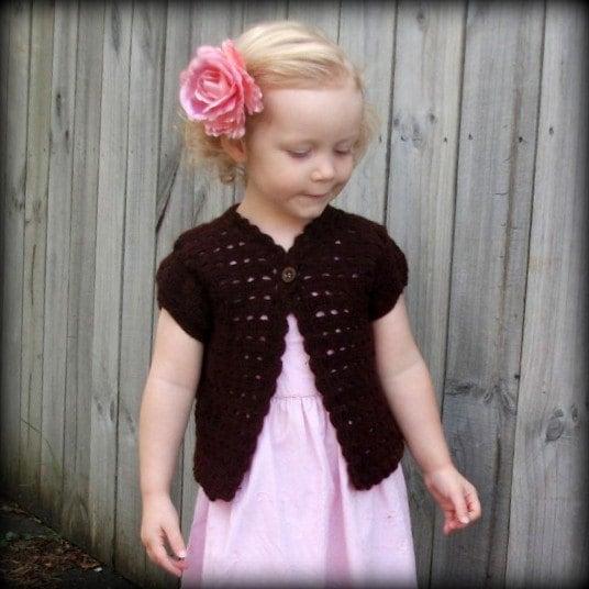 Crocheted Red-Hot Cardigan Pattern - Premier Yarns : Deborah