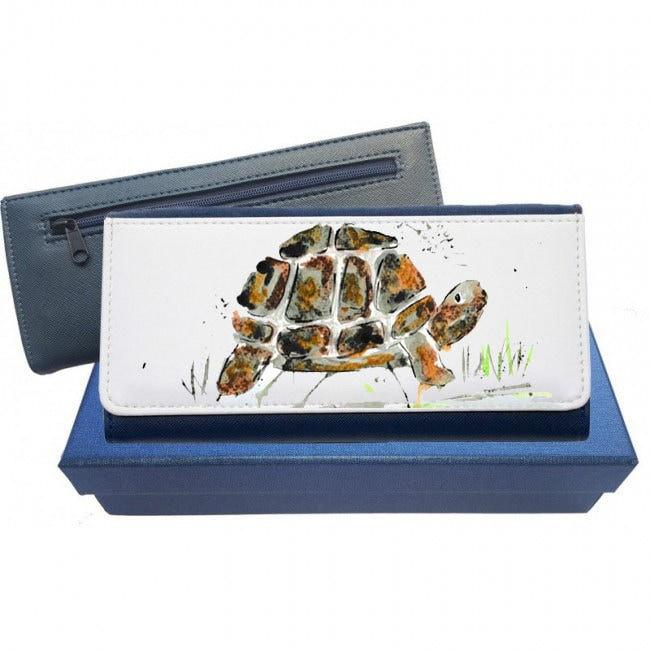 tortoise purse tortoise coin purse tortoise gift tortoise leather purse leather purse purse gift navy purse