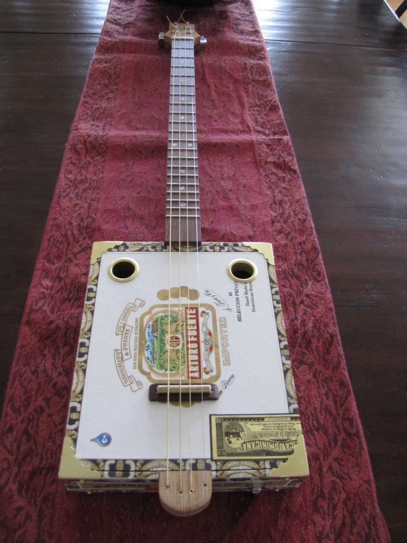 String cigar box guitar arturo fuente by barefootboogieguitar