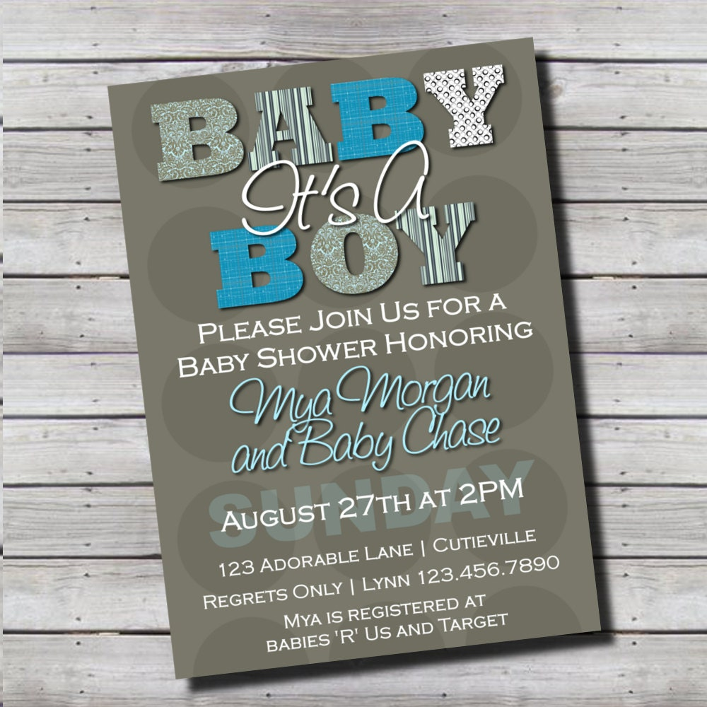 Its A Boy Invitations with nice invitations sample