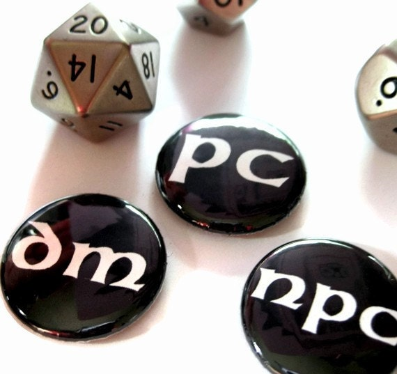 gaming alignment set of 3 by PortlandButtonWorks on Etsy