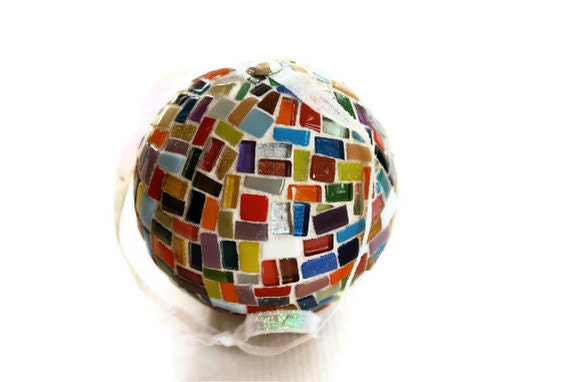 Mosaic Christmas Ornament, Multicolored