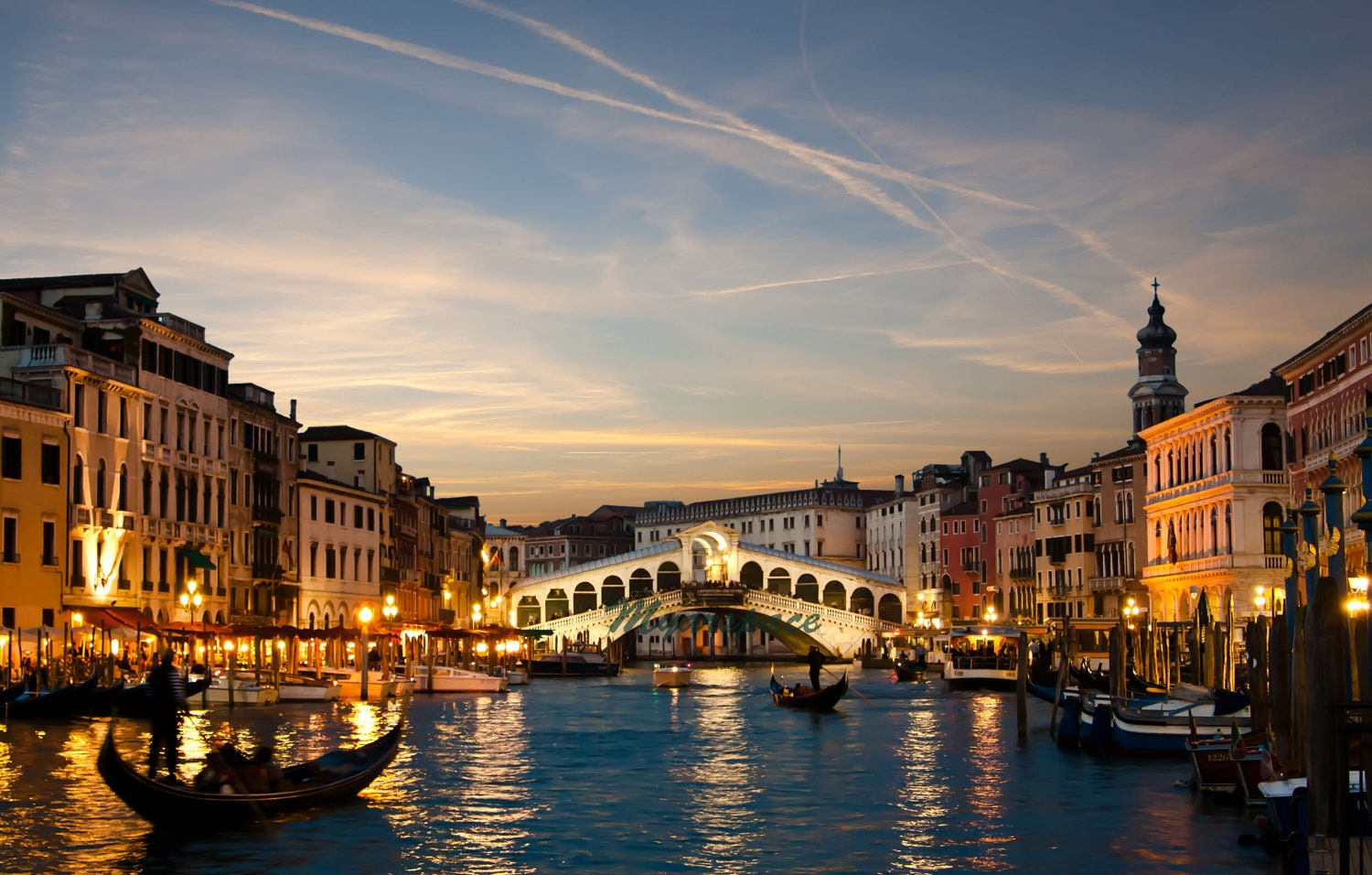 Sunset Venice print Fine Art Photography Rialto by Myartspace 10 Most Beautiful Places In The World Wallpaper
