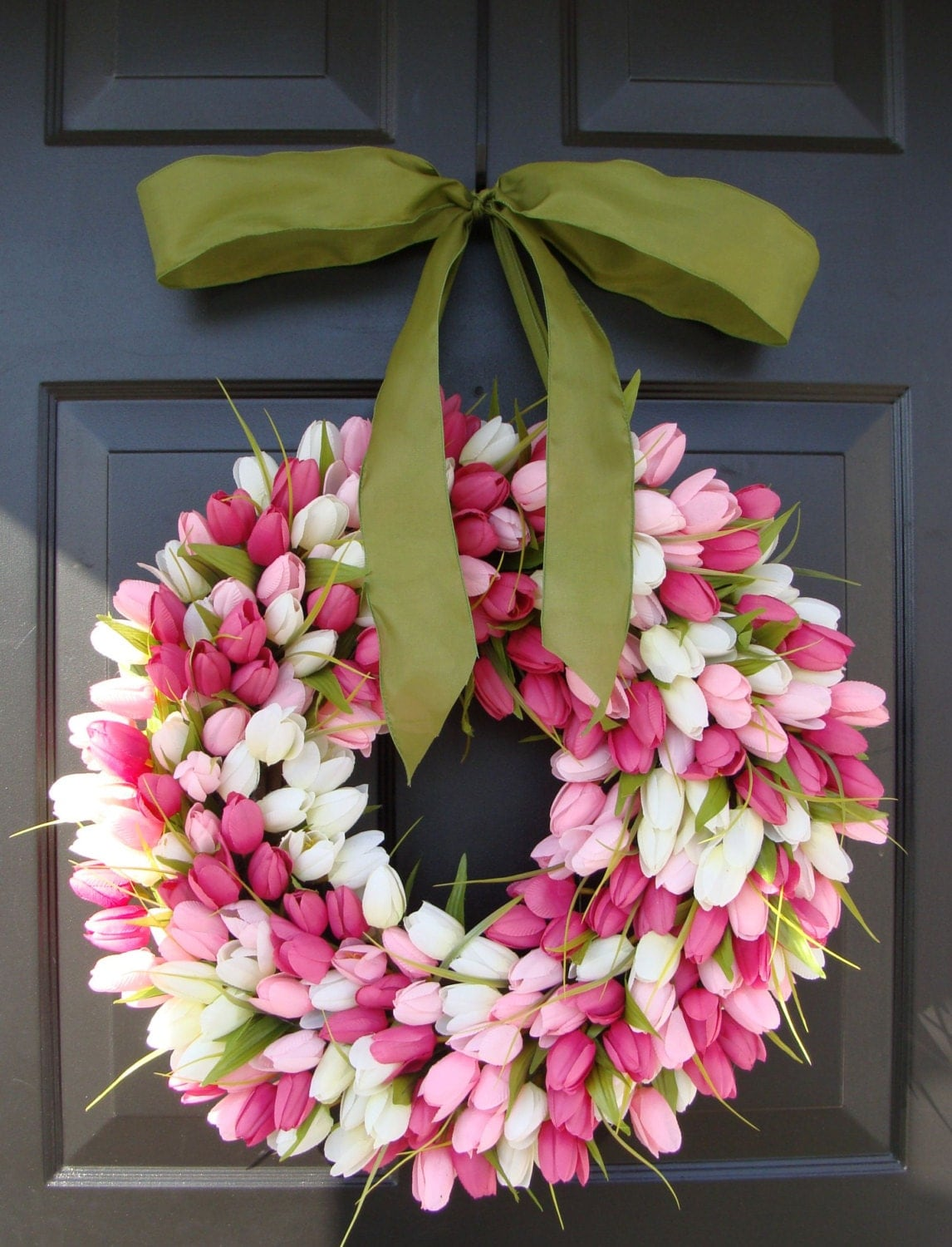 20 inch Spring Wreath- Easter Decor- Gift for Her- Mothers Day Gift- Easter Decoration- Outdoor Wreath- Burlap Wreath - elegantholidays
