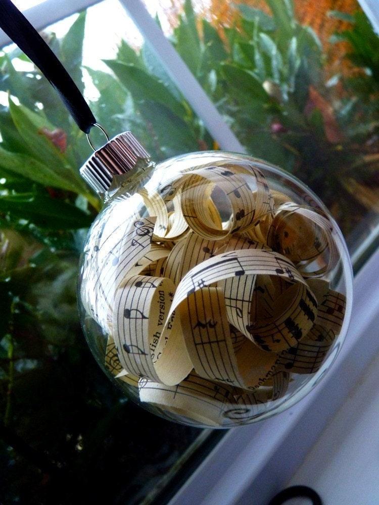 Items similar to Vintage Sheet Music Christmas Ornaments ...