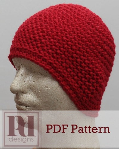 Mens Laborers Beanie Hat Crochet PDF Pattern by PDDesignsCrochet