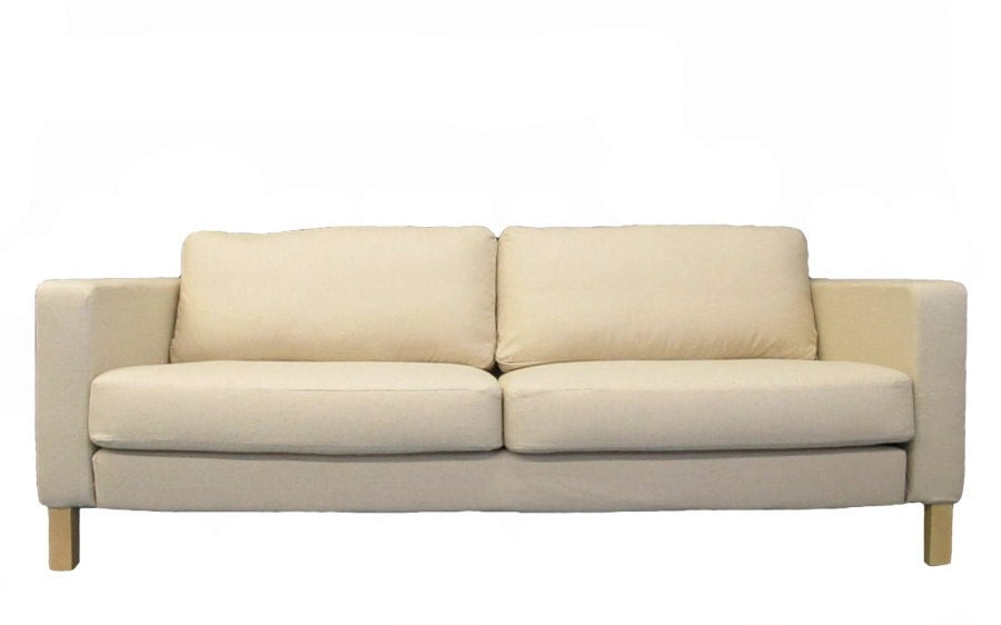 Ikea Karlstad Sofa Custom Slipcover In Oatmeal By