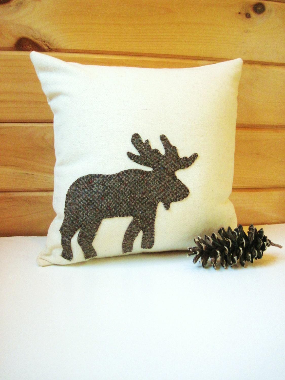 Decorative Moose Pillows : Decorative Throw Pillow Rustic Moose Pillow Cabin by AwayUpNorth