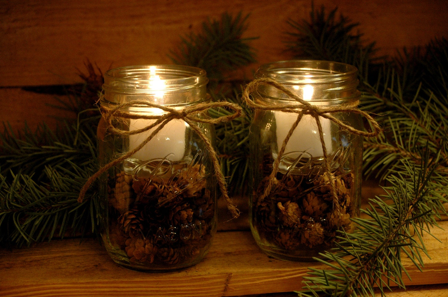 Pine Cone Candles for your rustic table by PineknobsAndCrickets