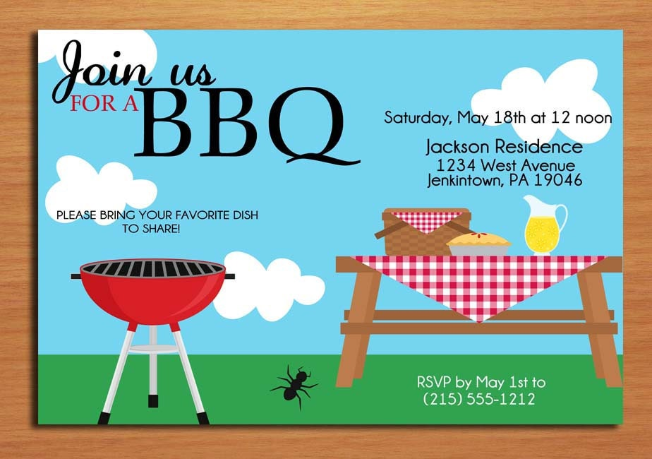 Bbq Invitation Template | Tattoo Design Bild