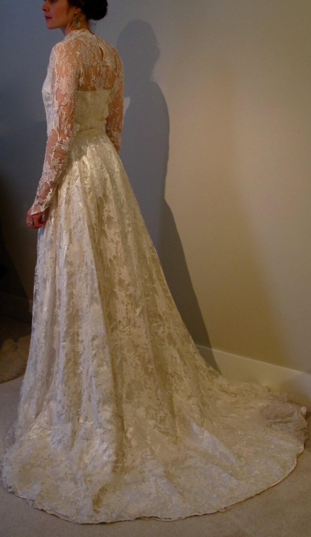 SOLD Vintage Wedding SALE Lace Dress 1940 By SaskatchewanSky