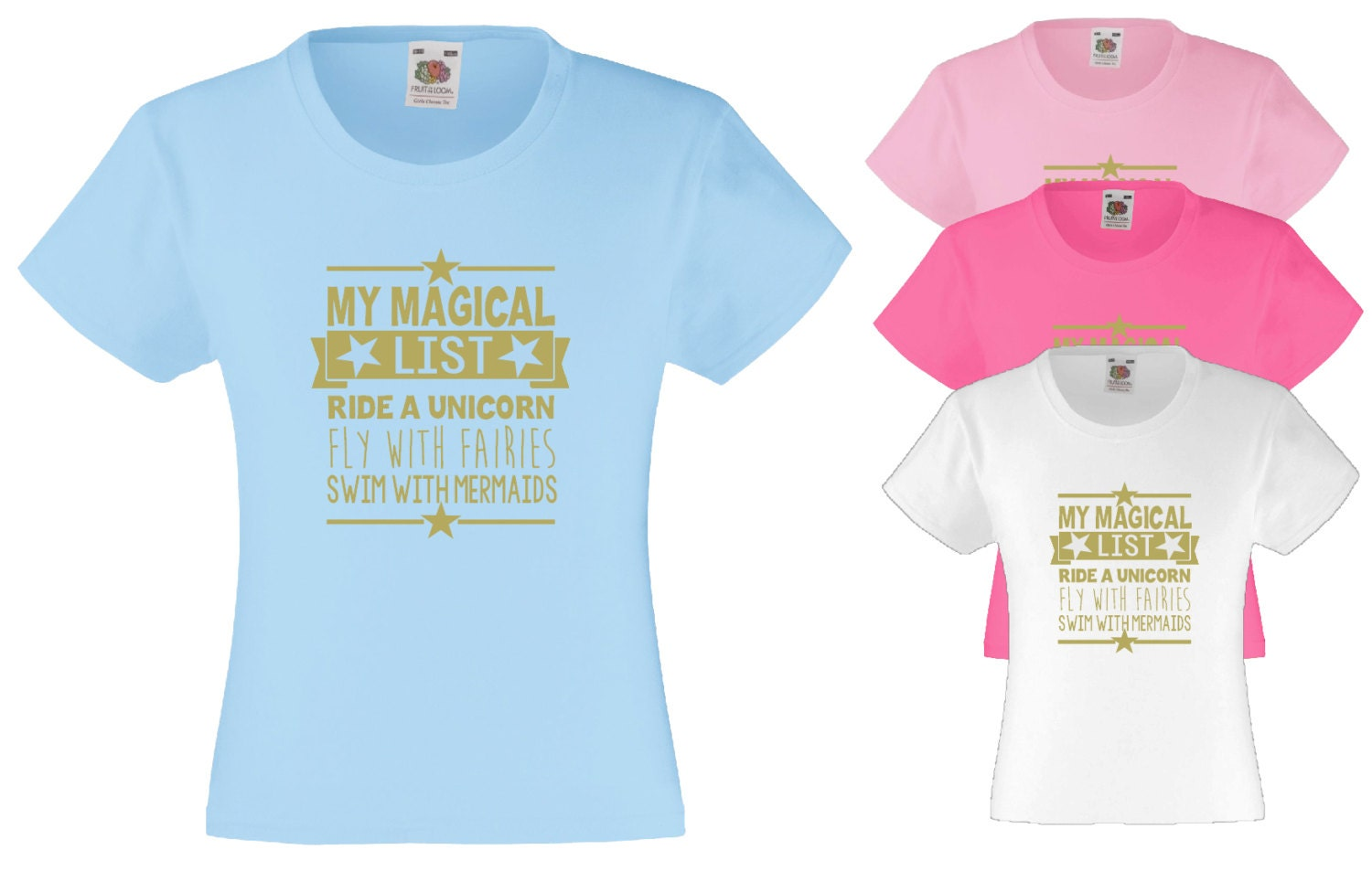 Magical Quote TShirt Girls Top Unicorn Quote Fairy Quote Mermaid Quote Girls Clothing Girls TShirt Quote TShirt Pink TShirt