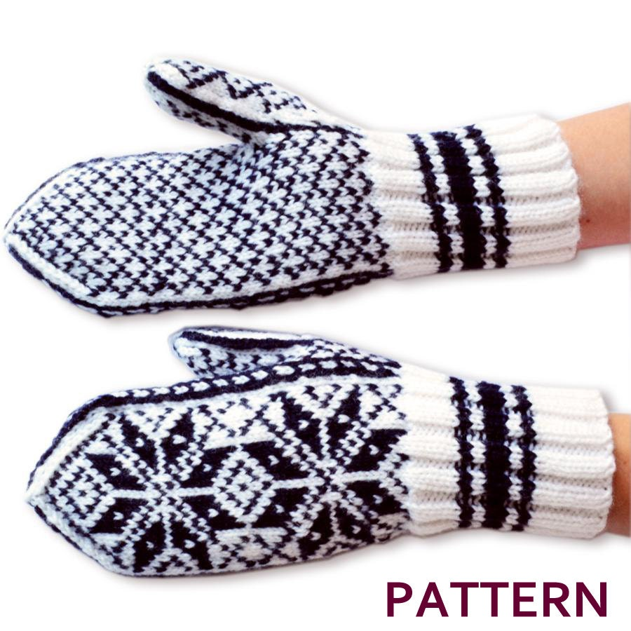 Norwegian Selbu Mittens Pattern by annawoolmagic on Etsy