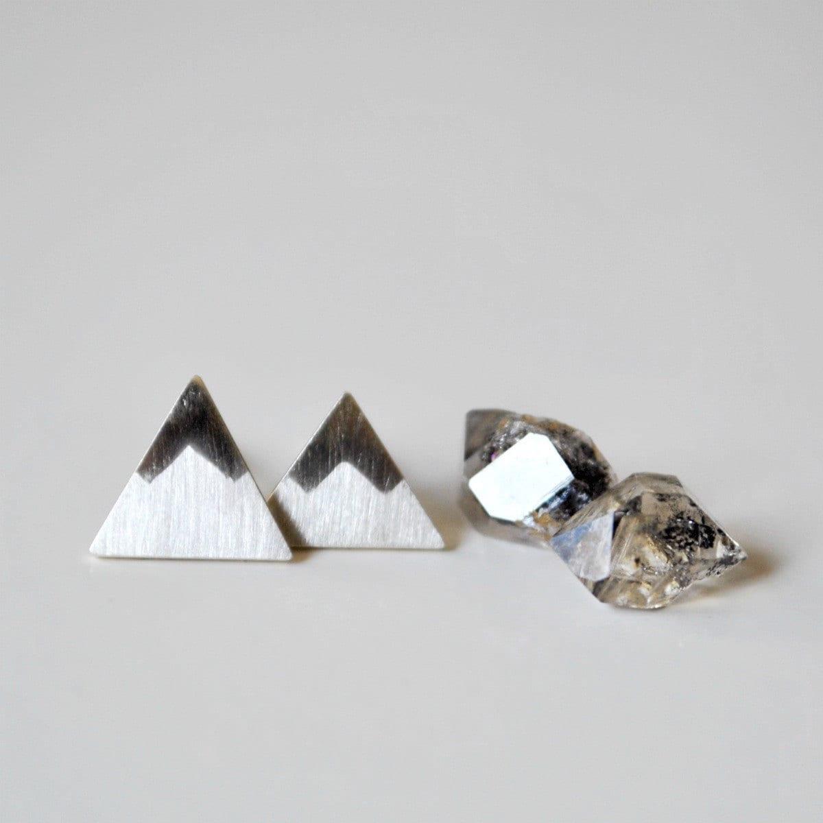 Peaks - Mountains Sterling Silver Stud Earrings - TheAngryWeather