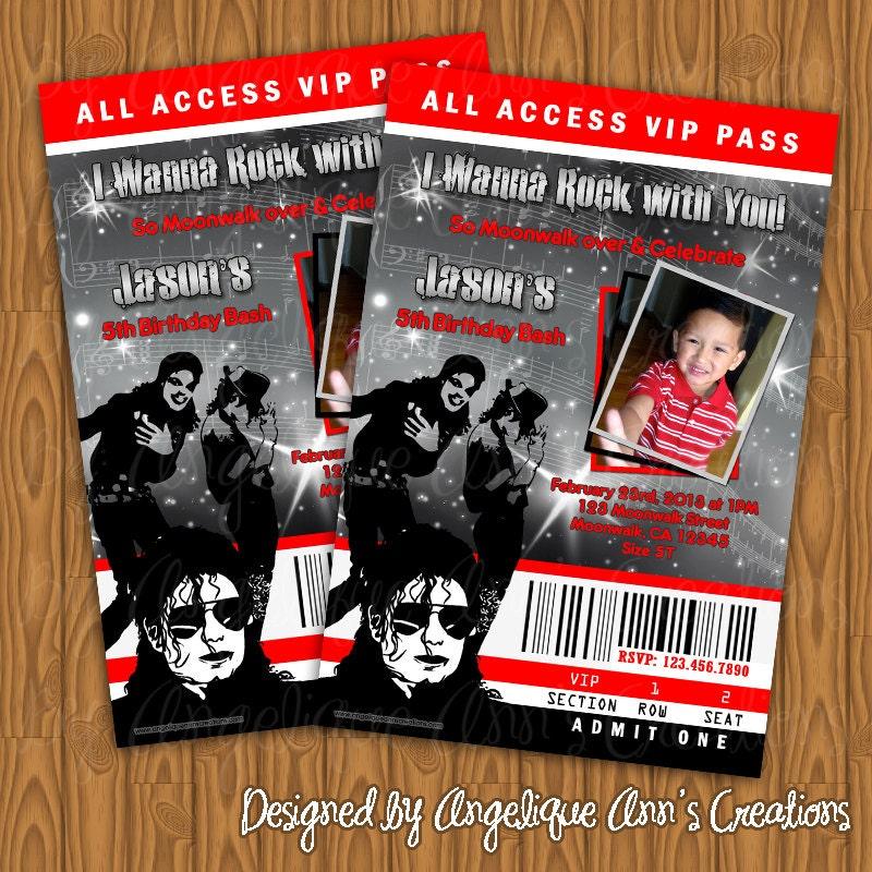 Michael Jackson Birthday Party Invitations By Jayarmada On