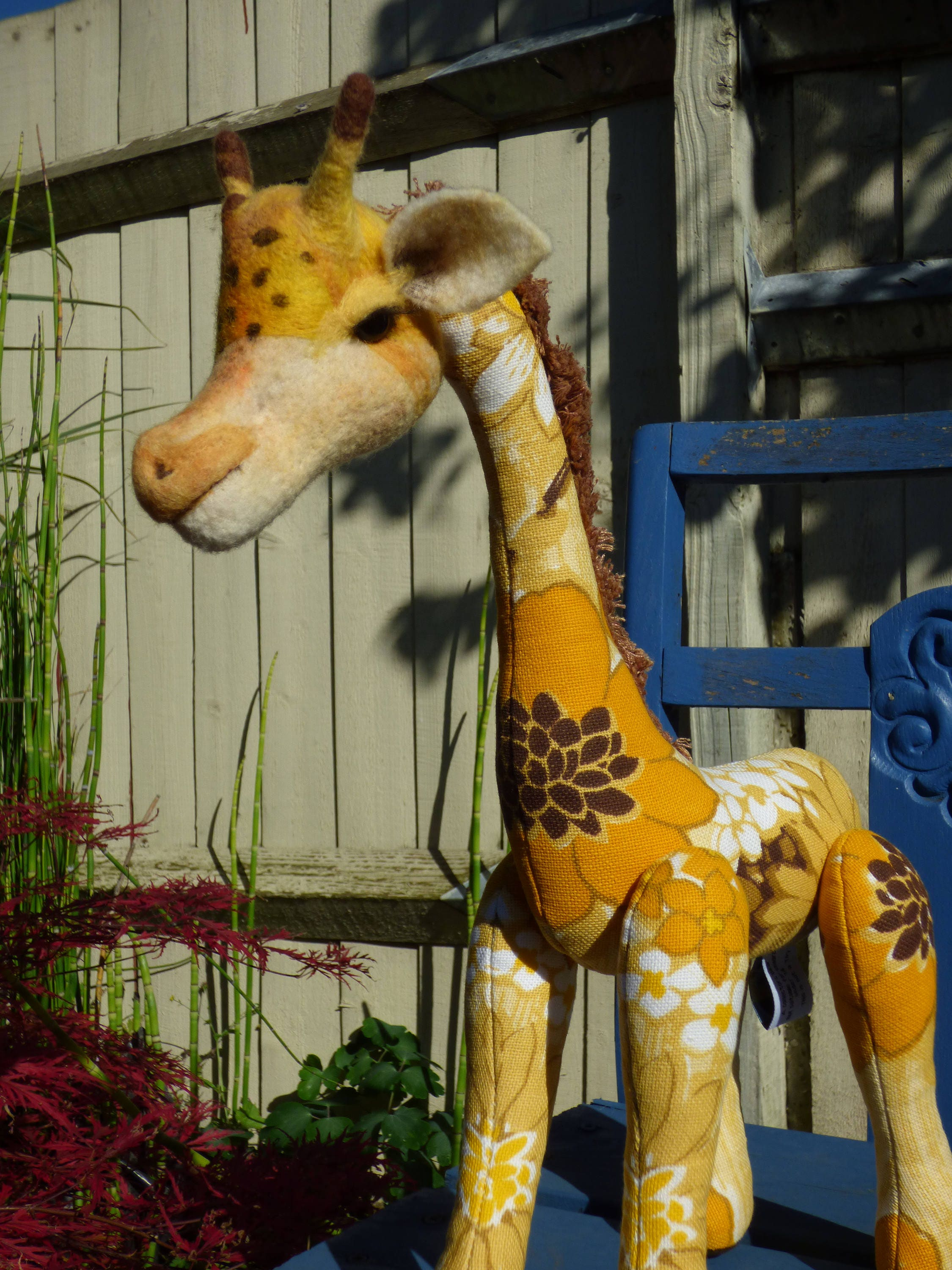 Giraffe  Ooak Funky retro toy  by Lolly Bou Creations