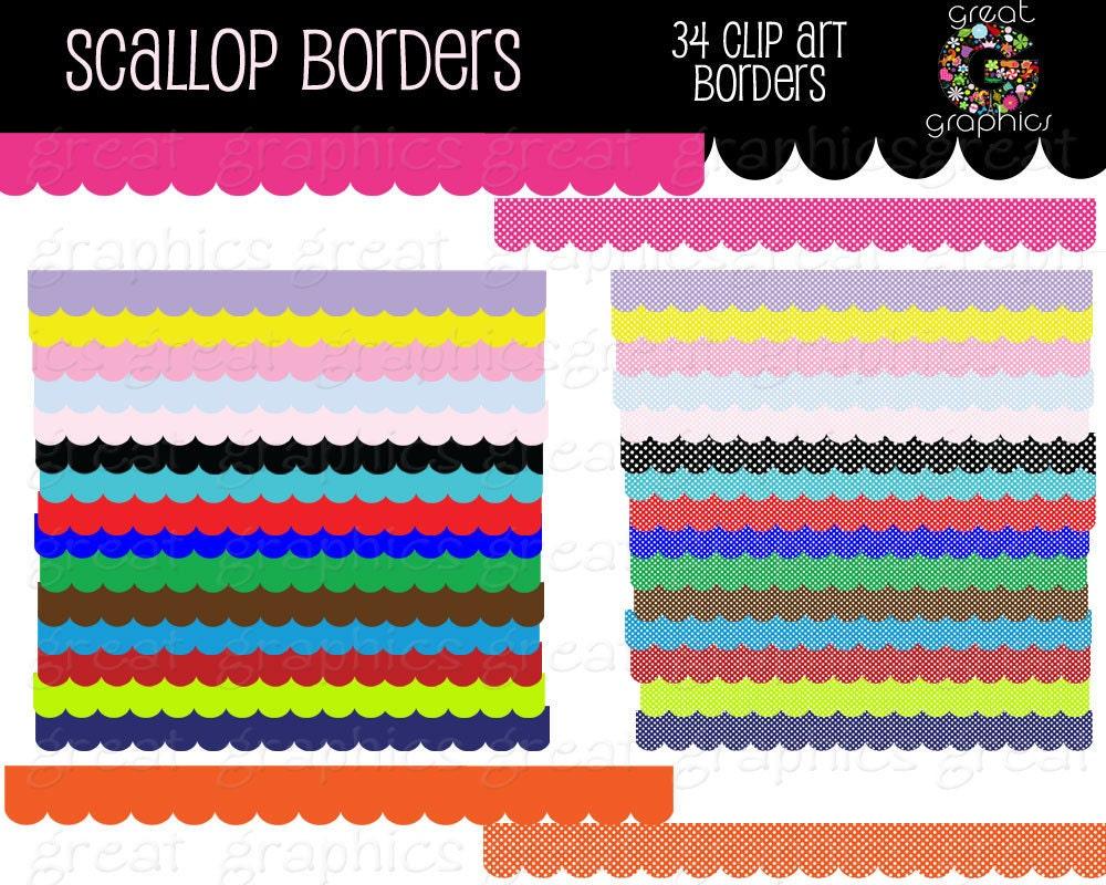 Scalloped edge border clip art
