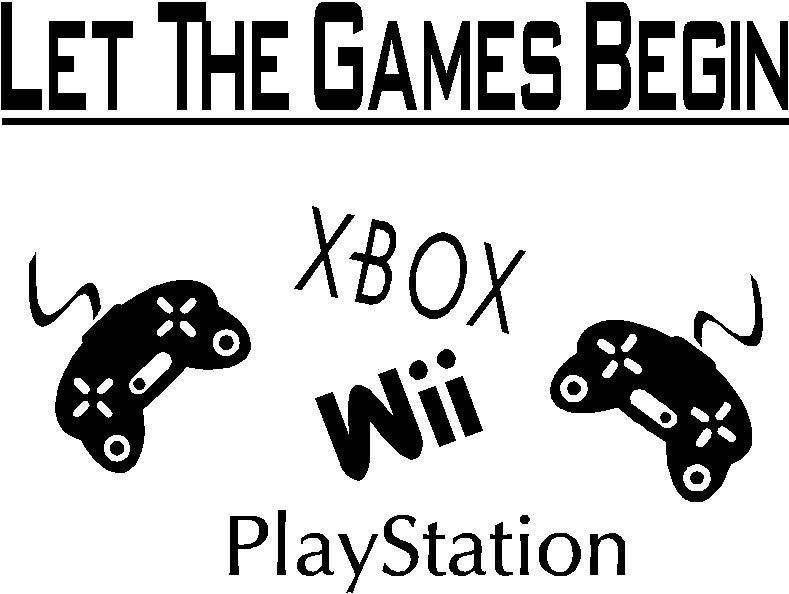 Game Room Decor Wii XBOX PSP Wall Vinyl Words by astickyplace
