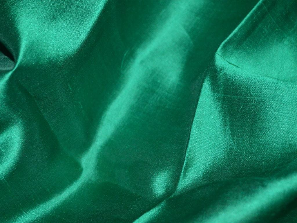 Dark green silk fabric