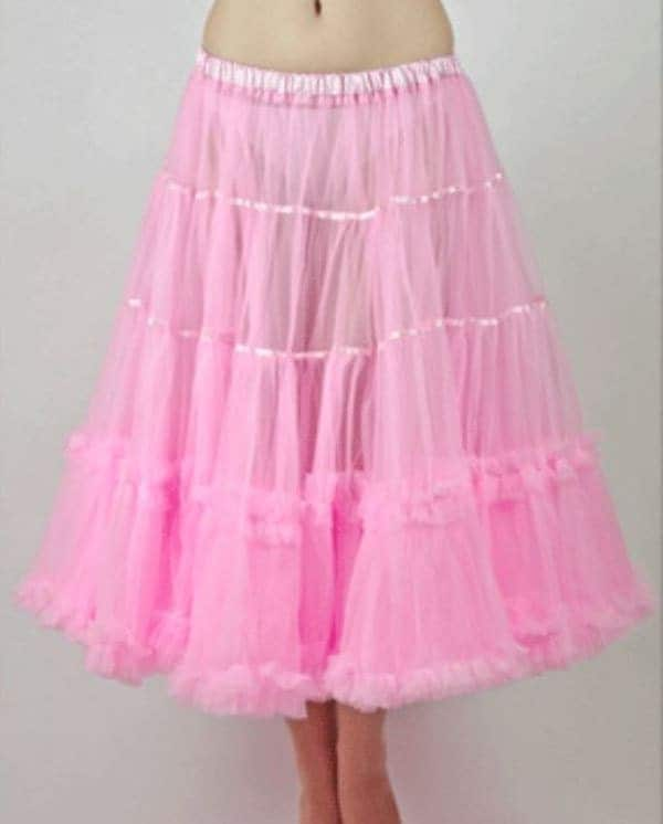 27 Inches Richly layered Luxury Petticoat in softest Mesh fabrics. Retro Style Inner Petticoat Skirt