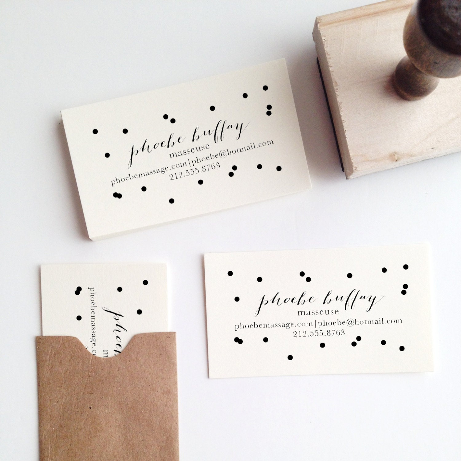 Confetti Business Card Stamp - stationeryboutique