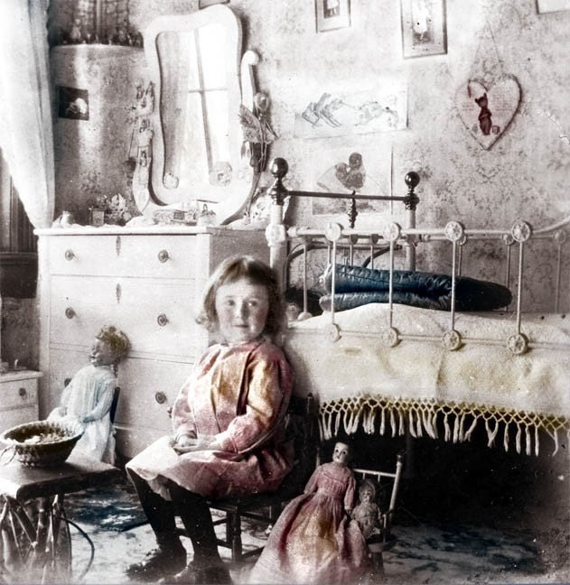 Vintage Photo Little Girl Victorian Bedroom Photo By Maclancy