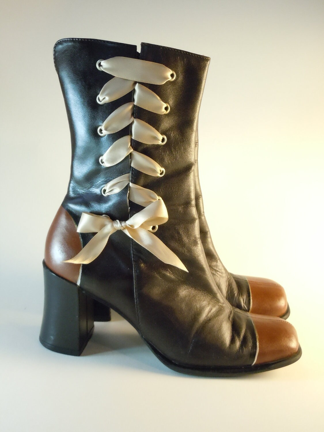 Neo-Victorian Steampunk Granny Boots size 7.5