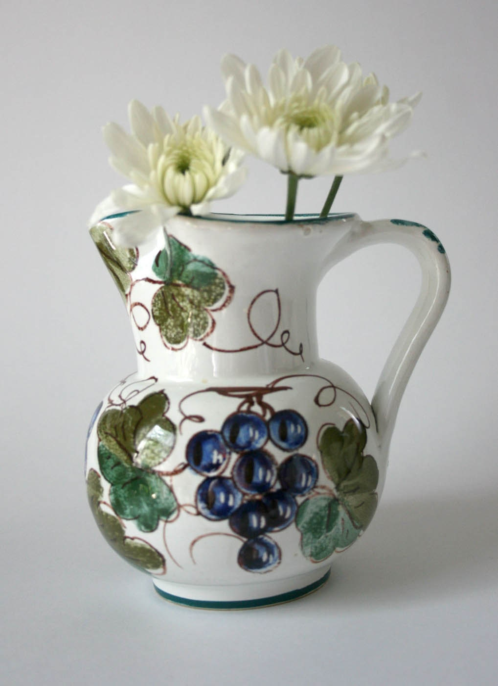 vintage pitcher made in italy hand painted by