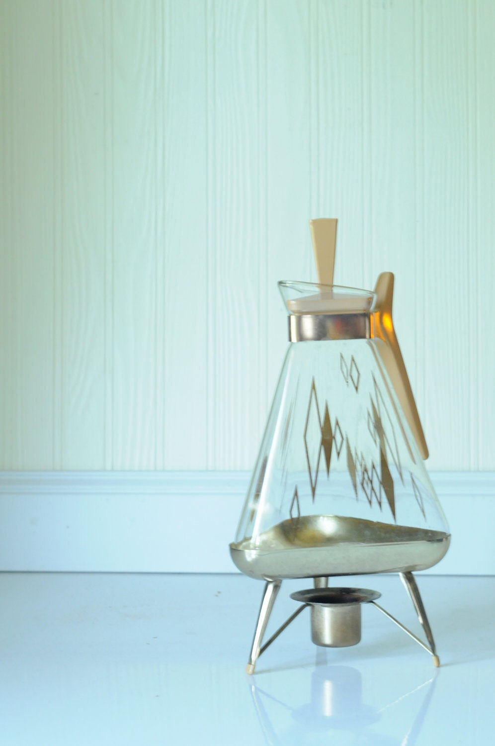 Modern Glass Coffee Maker : Mid Century Modern Coffee Pot Carafe Tea Pot by PageScrappers