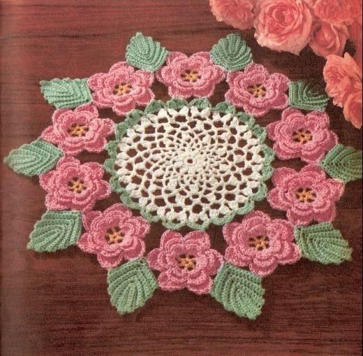Irish Rose Doily Crochet Pattern by CrochetHooker on Etsy