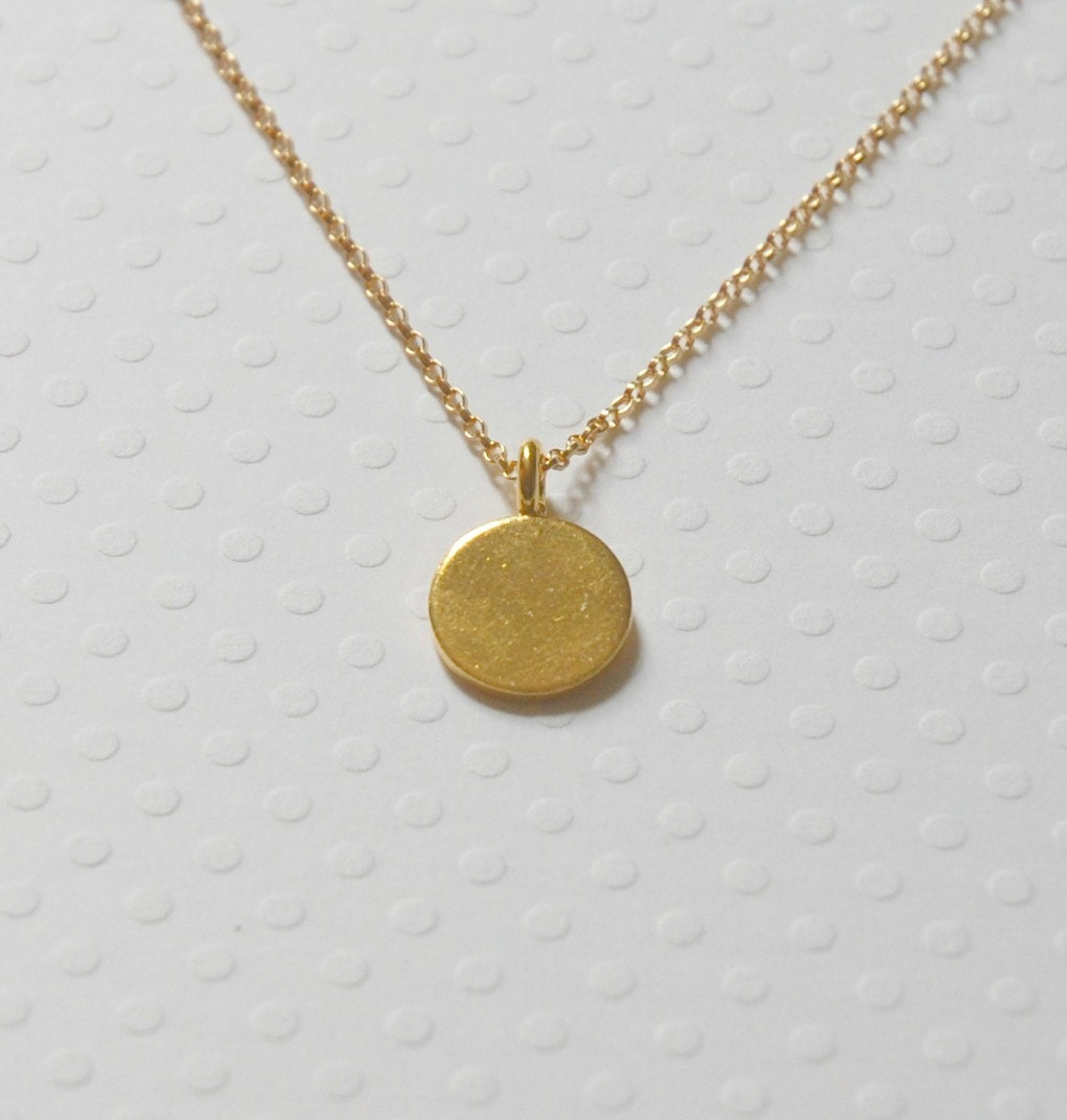 gold pendant necklace small gold vermeil by
