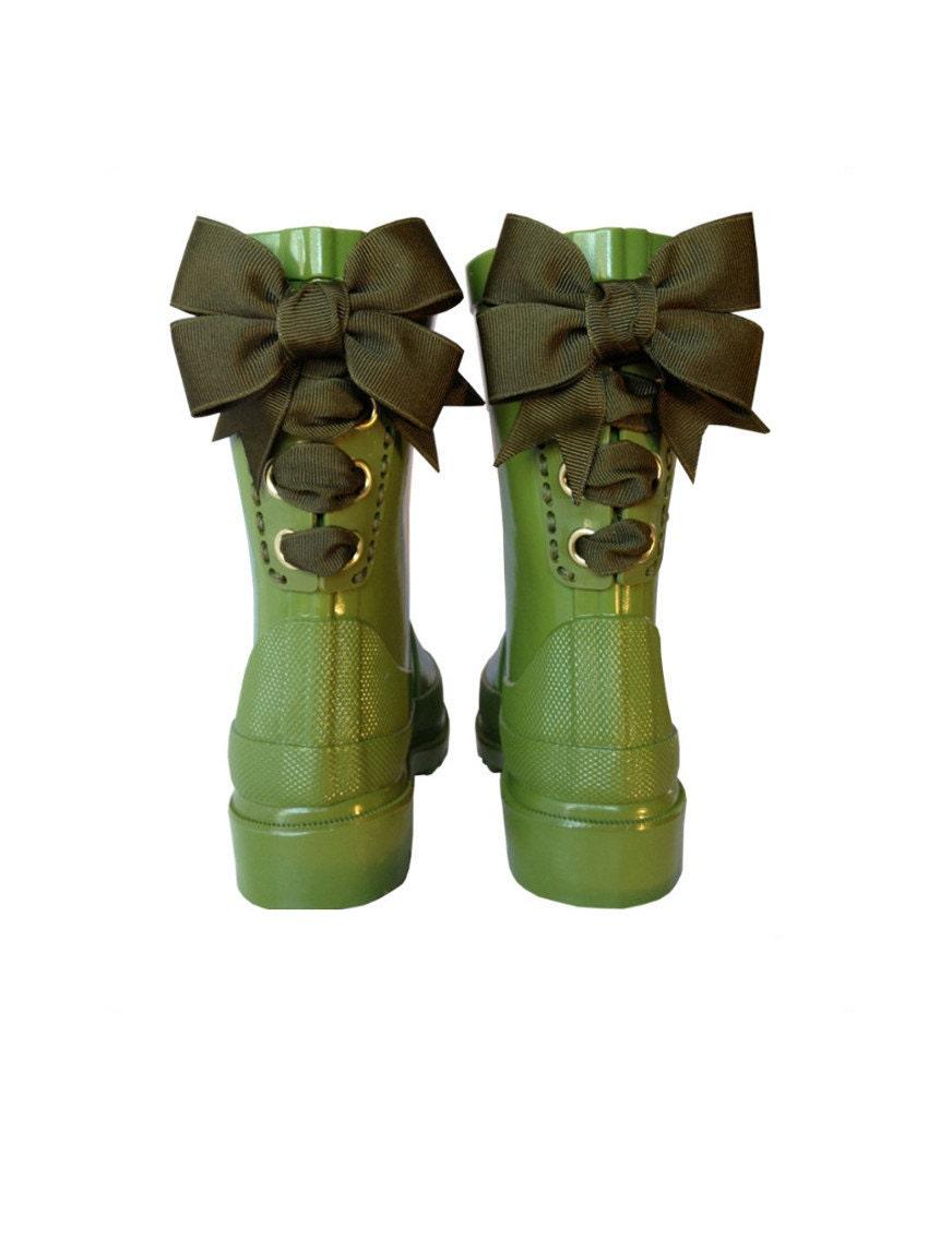 Timber & Tamber Rain Boots Rubber Gumboots Green - TimberAndTamberBoots
