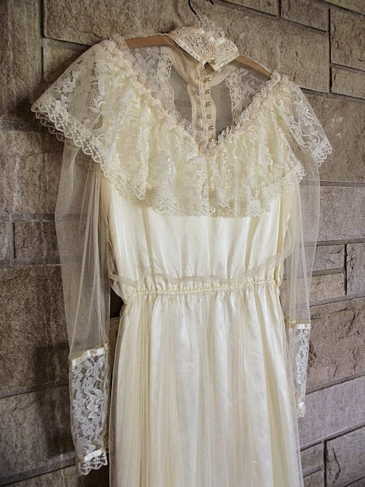 Vintage 70s lacy gunne sax wedding dress off by for Gunne sax wedding dresses