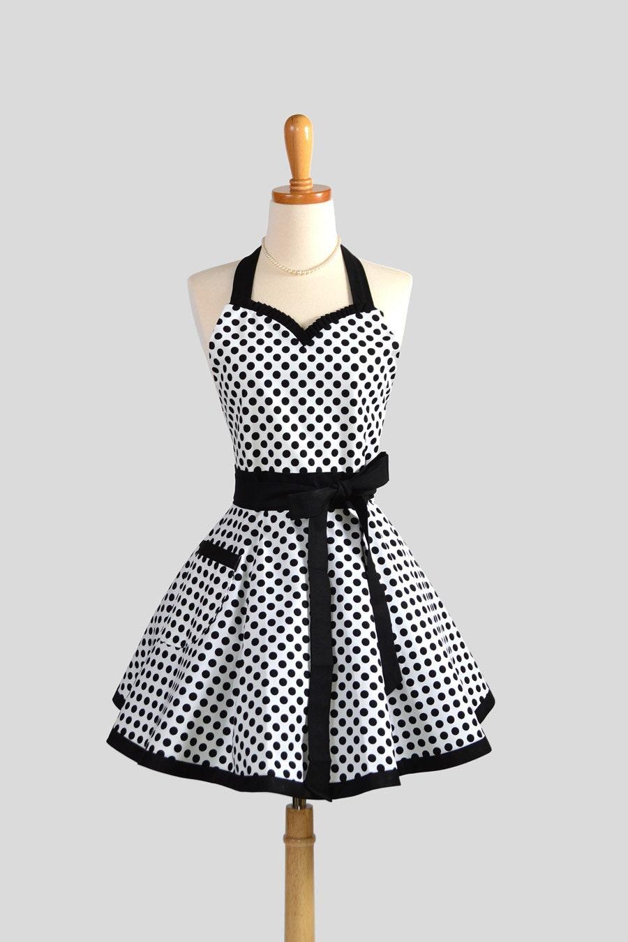 sweetheart retro apron cute retro womens apron by. Black Bedroom Furniture Sets. Home Design Ideas